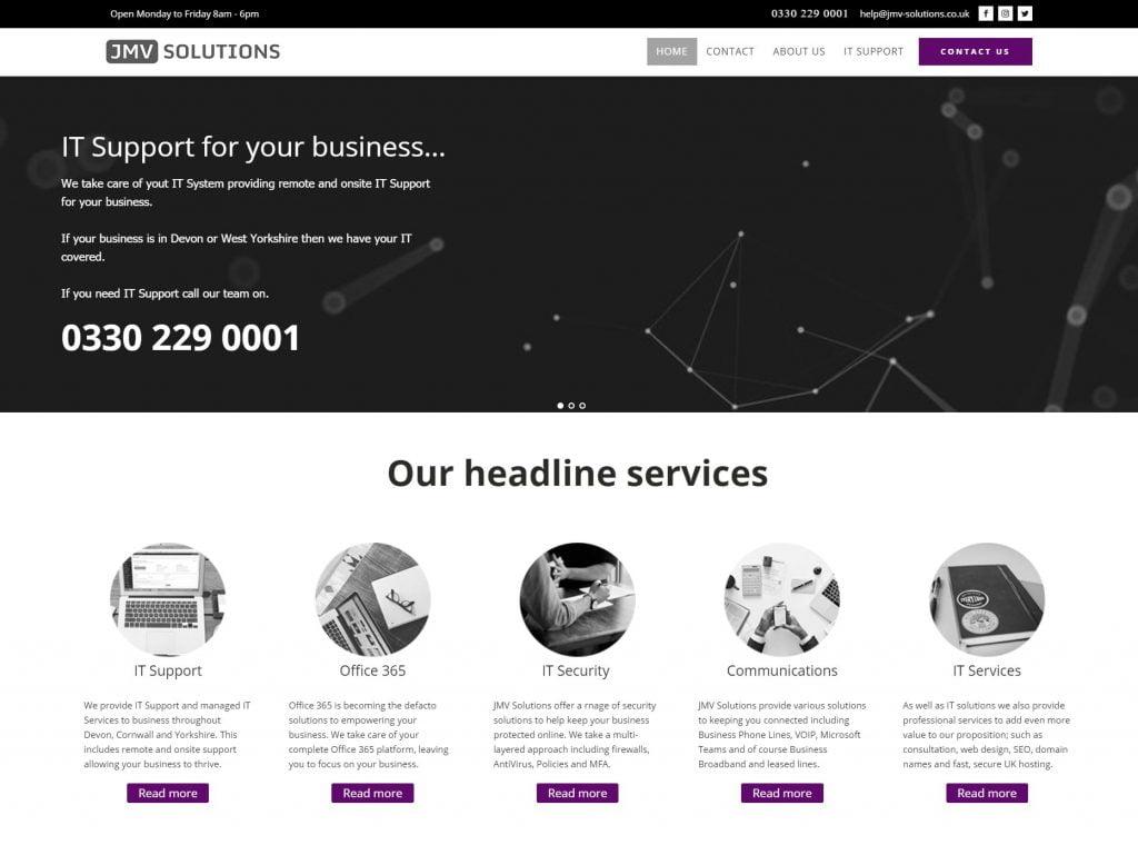 JMV Solutions website